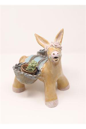 Scultura vaso in ceramica a forma di asinello Caprese Ceramicapri | 5032238 | ASINELLOCAPRESEBEIGE