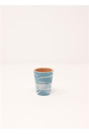 Bicchiere per limoncello in ceramica azzurra Ceramicapri | 5032244 | BICCHIERILIMONCELLOAZZURRO
