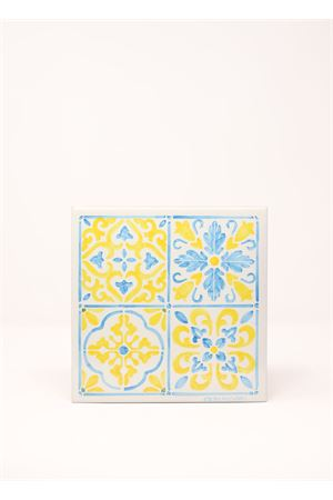 Light blue and yellow majolica tile  Ceramicapri | 20000004 | MATTONELLAMAIOLICAMAIOLICAGIALLA