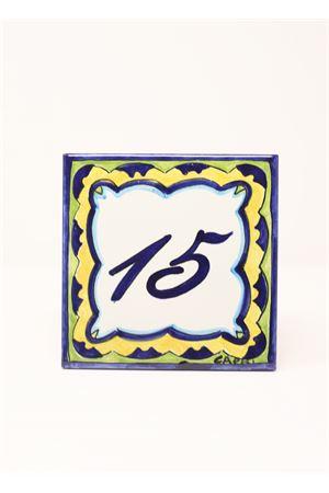Capri tile with customizable house number  Ceramicapri | 20000025 | NUMEROCIVICOBLU