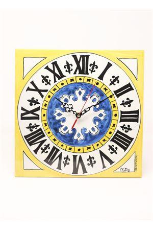 Orologio da appendere con quadrante campanile Piazzetta di Capri Ceramicapri | 20000010 | OROLOGIOCAPRIBIGPIAZZETTAGIALLO
