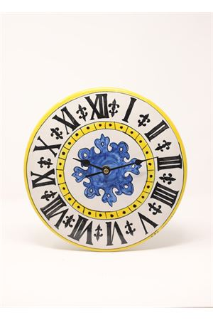 Orologio da appendere rotondo con quadrante Campanile piazzetta Ceramicapri | 20000010 | OROLOGIOCAPRITONDOPIAZZETTAGIALLO