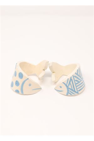Set of 2 napkin holder fish shaped Ceramicapri | 20000026 | PORTATOVAGIOLIAZZURRO