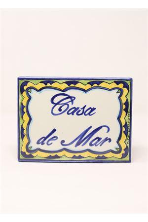 Customizable entrance tile in Capri style  Ceramicapri | 20000025 | TARGARETTANGOLAREBLUCAPRI