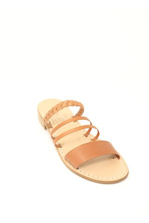 Capri sandals with comfortable heel leather color  Cuccurullo | 5032256 | CIABATTAFASCEPELLE