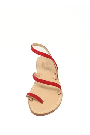 Red suede Capri sandals  Cuccurullo | 5032256 | TREFASCEROSSOSUEDE
