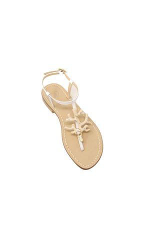 sandali gioiello con corallo beige e madreperla Da Costanzo | 5032256 | 1918CORALLOVACCHETTA