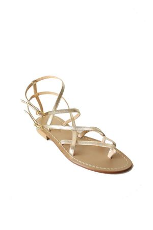 Platinum capri sandals high at the ankle Da Costanzo | 5032256 | 2245PLATINO
