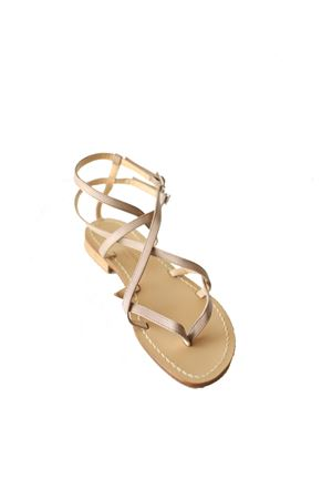Clay color capri sandals  Da Costanzo | 5032256 | 2245TAUPE
