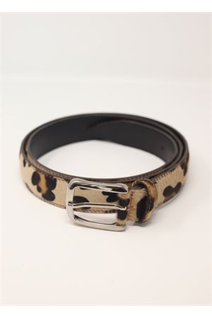Pony hair spotted leather belt  Da Costanzo | 22 | CAVALLINOLEOPAREDATA