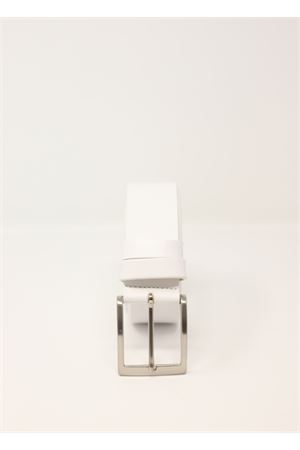 Whiter leather belt  Da Costanzo | 22 | CINTURABASICBIANCO