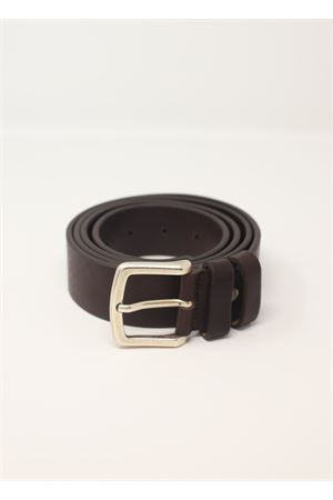 Unisex dark brown leather belt  Da Costanzo | 22 | CINTURABASICMARRONE
