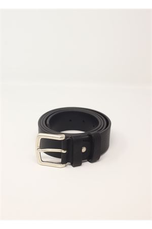 Classic unisex leather belt  Da Costanzo | 22 | CINTURABASICNERO