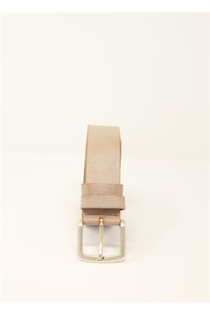 Beige leather unisex belt  Da Costanzo | 22 | CINTURAFIBIASBEIGE