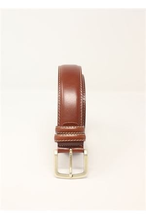 Brown leather belt  Da Costanzo | 22 | CINTURAFIBIASMARRONE