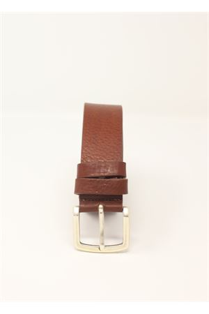 Hammered leather brown belt  Da Costanzo | 22 | CINTURAMARTMARRONE