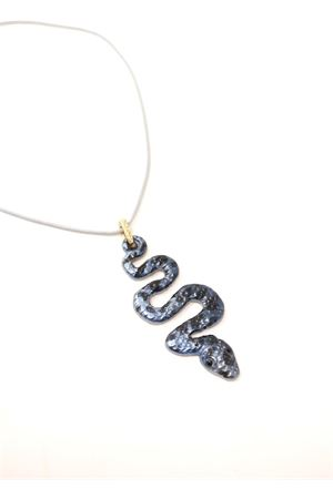 Collana con serpente blu e swarovski Da Costanzo | 35 | COLLANASERPENTEBLU