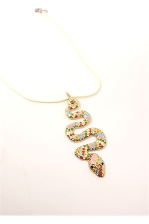 Multicolored snake pendant  Da Costanzo | 35 | COLLANASERPENTEMULTI