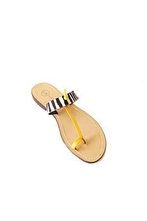 Zebra pattern Capri sandals  Da Costanzo | 5032256 | FASCIAEALLUCEZEBRAZEBRAYELLOW