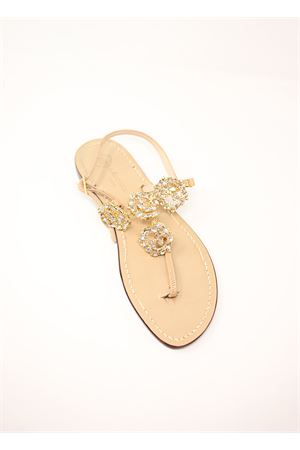 Gold jewel Capri sandals  Da Costanzo | 5032256 | GIRANDOLEBIANCO