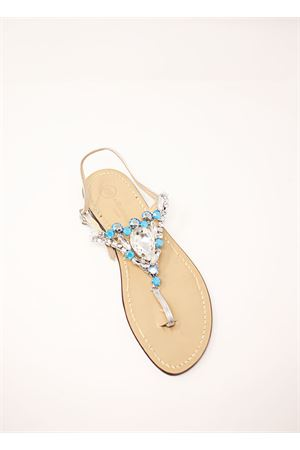 light blue jewel capri sandals  Da Costanzo | 5032256 | S3966AZZURRO