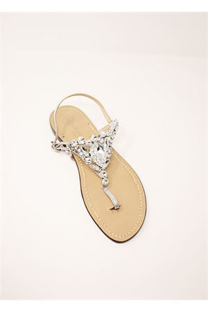 Silver Capri sandals for bride  Da Costanzo | 5032256 | S3966BIANCO