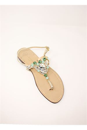 Green jewel capri sandals  Da Costanzo | 5032256 | S3966VERDE