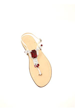 Red crystal Capri sandals  Da Costanzo | 5032256 | S3967ROSSO