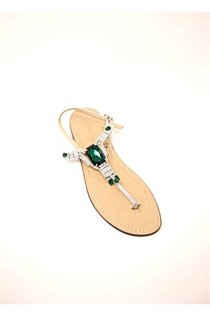 Green capri sandals  Da Costanzo | 5032256 | S3967VERDE