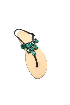 green jewel sandals  Da Costanzo | 5032256 | TRIANGOLONEVERDE