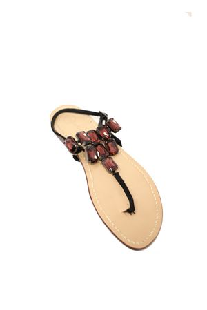 Purple jewel sandals Da Costanzo | 5032256 | TRIANGOLONEVIOLE
