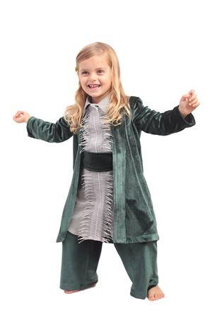 giacca kimono in velluto verde Giro Quadro | 3 | GQ23VERDE
