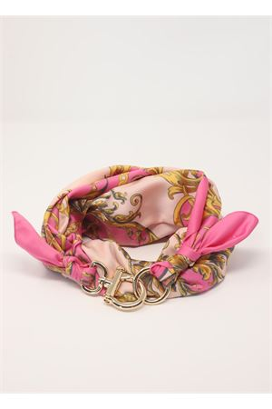 Baroque pattern scarf with hook closure  Grakko Fashion | -709280361 | GRBAROQUEROSA