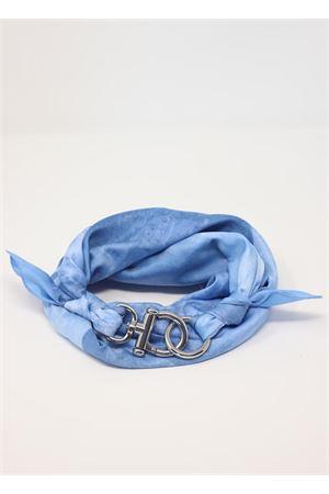 Foulard azzurro con gancio decorativo Grakko Fashion | -709280361 | GRBASICAZZURRO