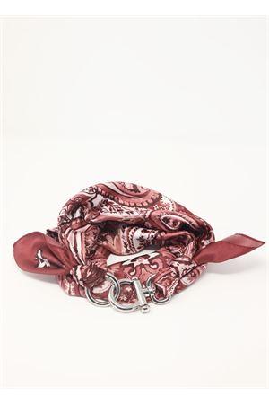 Foulard con gancio decorativo a fantasia cachemire rosa e bordeau Grakko Fashion | -709280361 | GRCASHWBORDEAUX