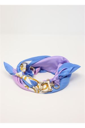 Foulard lilla e azzurro con fantasia catene Grakko Fashion | -709280361 | GRCATENEVIOLA