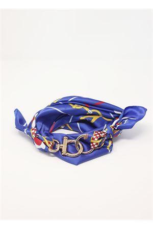 Electric blue scarf with hook closure Grakko Fashion   -709280361   GRCATENEWBLU