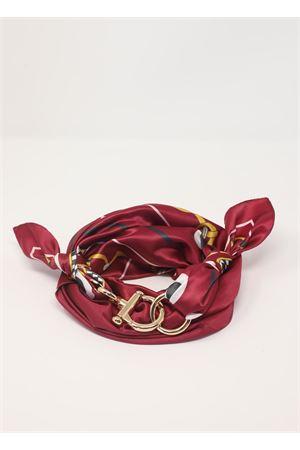 Purple scarf with chains pattern  Grakko Fashion | -709280361 | GRCHAINSBORDEAU