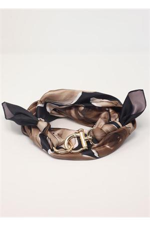 Foulard fiori con gancio Grakko Fashion | -709280361 | GRFIORINERO