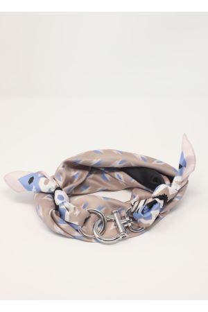 Foulard con gancio fantasia geometrica Grakko Fashion | -709280361 | GRGEOMAZZURRO