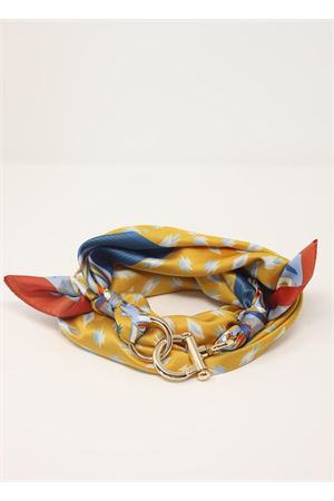Yellow and orange scarf with geometric pattern  Grakko Fashion | -709280361 | GRGEOMGIALLO