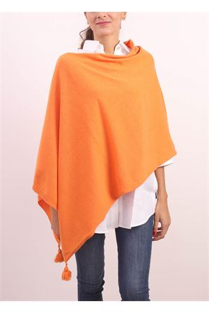 Orange cahsmere , silk and wool cape  Jurta | 52 | PONCHODONNAARANCIONE