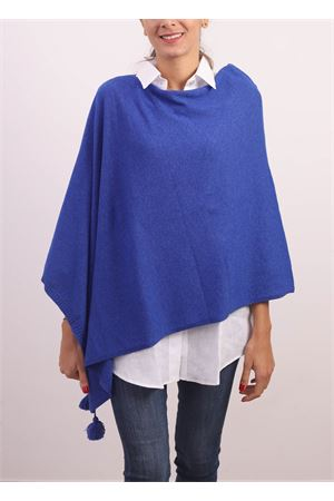 Ecelctic blue cahsmere, silk and wool poncho cape Jurta | 52 | PONCHODONNABLUELETTRICO