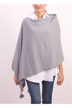 Grey cashmere, silk and wool cape  Jurta | 52 | PONCHODONNAGRIGIO