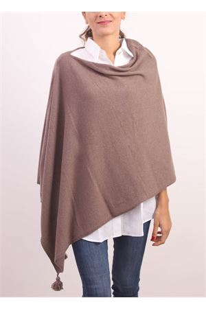 Brown cahsmere, wool and silk cape  Jurta | 52 | PONCHODONNAMARRONE