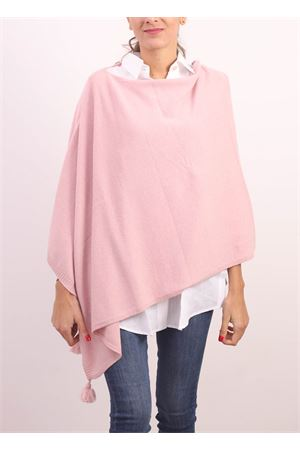 Pink poncho cape in wool, cahsmere and silk  Jurta | 52 | PONCHODONNAROSA