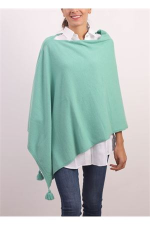 Green poncho cape in wool, cashmere and silk  Jurta | 52 | PONCHODONNAVERDE