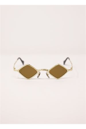 Gold triangular sunglasses model MaskeZ14 Kuboraum | 53 | MASKEZ14ORO