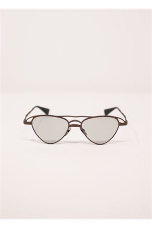 Metal sunglasses with silver mirrored lenses MaskeZ15 model  Kuboraum | 53 | MASKEZ15MARRONE