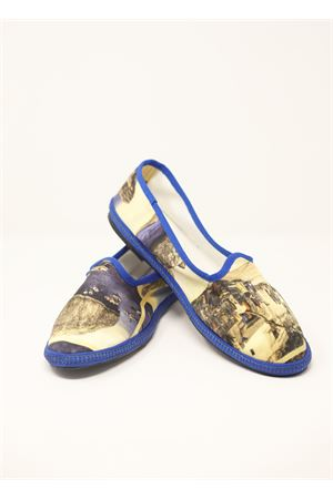 Silk shoes Friulane with old postcards pattern  Laboratorio Capri | 12 | BAKICARTOLINE